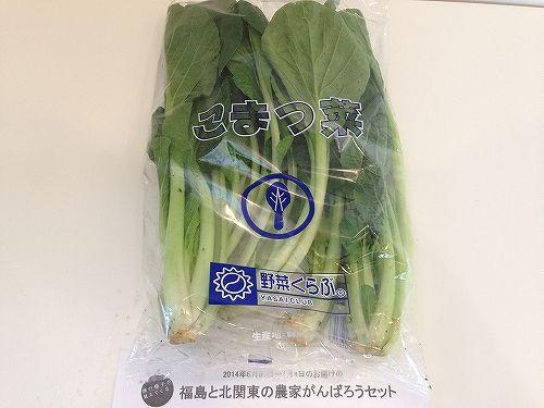 野菜クラブの小松菜