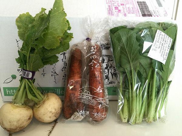 かぶとにんじん、小松菜