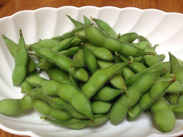 おいこファームの塩ゆで枝豆