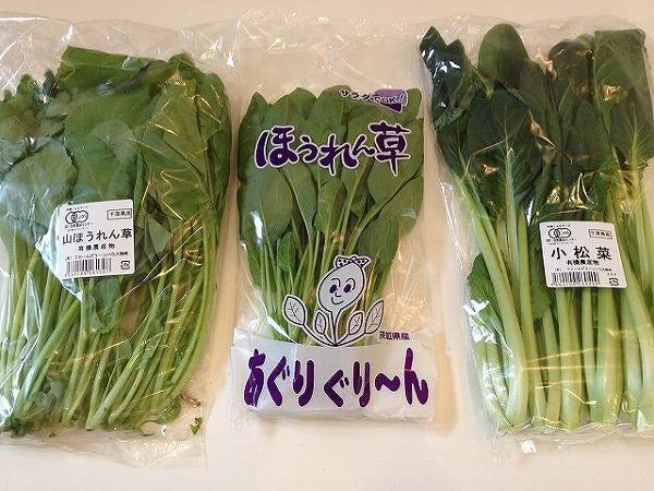 有機ほうれん草・小松菜 | おいしっくすくらぶ2週目
