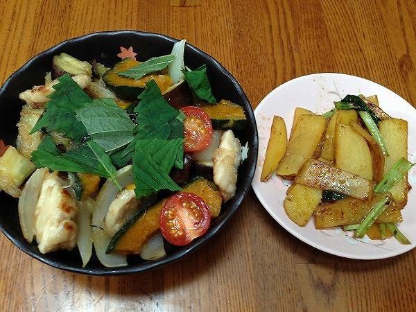 彩り野菜の酢鳥・和風おろし仕立て