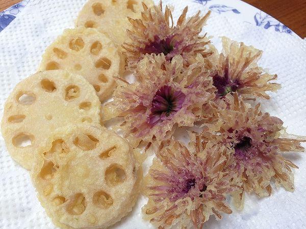 食用菊とレンコンのてんぷら~野菜宅配まとめ