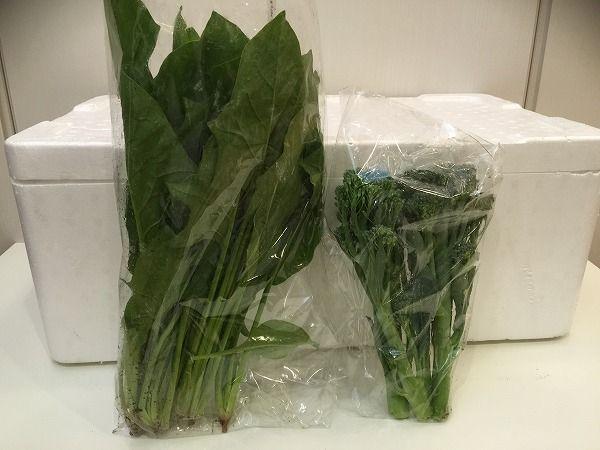 パルシステムの葉物野菜(有機栽培)