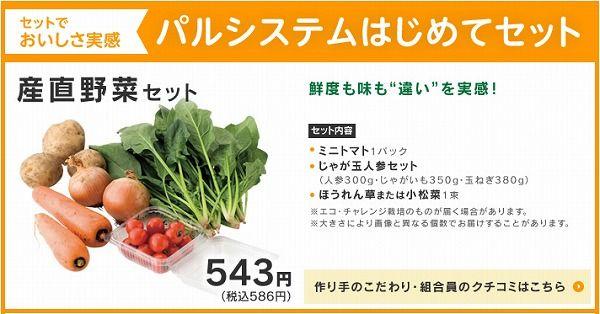 パルシステム産直野菜セット~野菜宅配まとめ