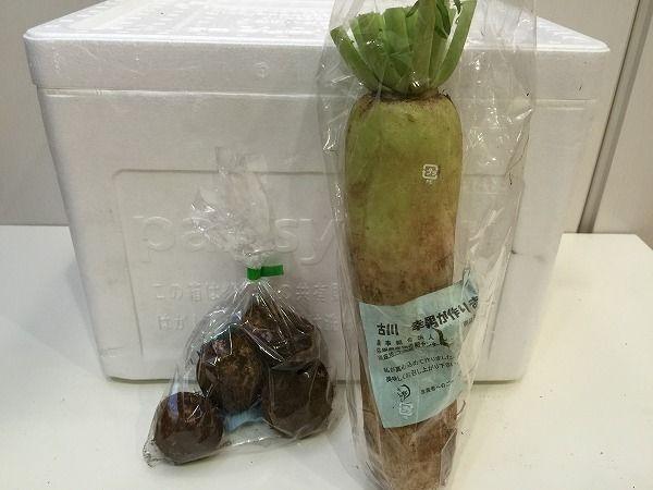 有機サトイモと大根~野菜宅配まとめ
