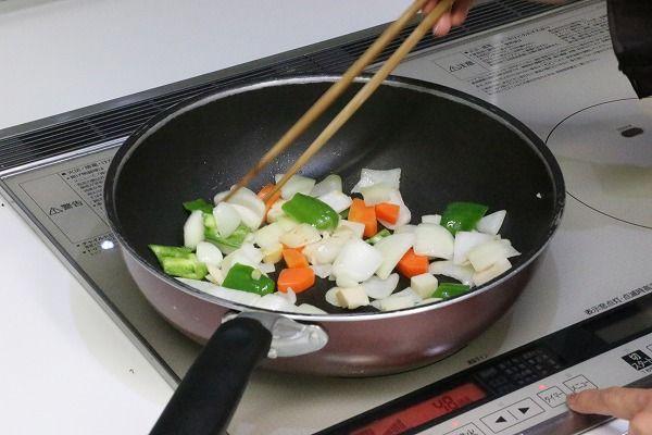 らでぃっしゅぼーやのキット野菜料理風景その2