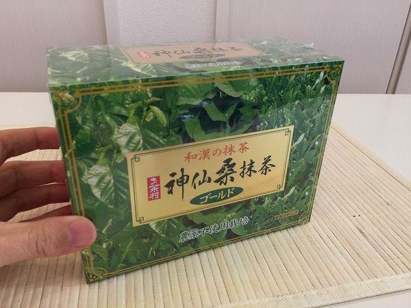 神仙桑抹茶パッケージ(表)