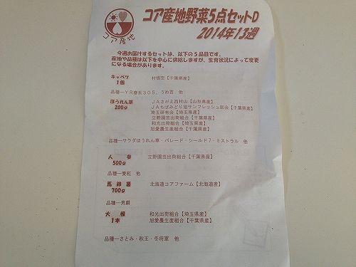 コア産地野菜セットD詳細
