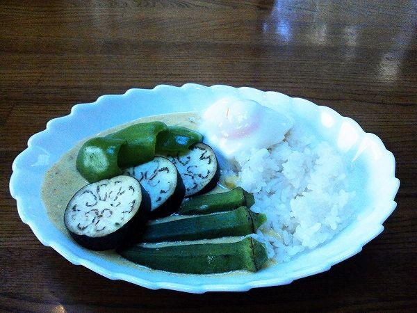 夏野菜のグリーンカレー
