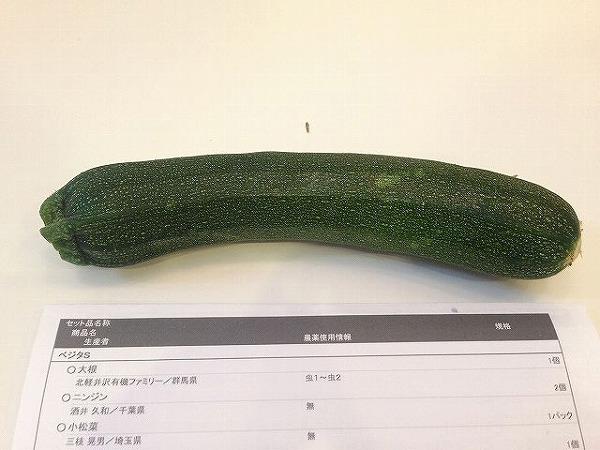 有機野菜宅配ズッキーニ