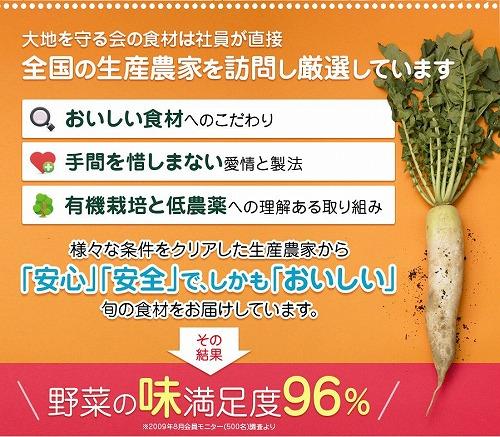 野菜の味満足度