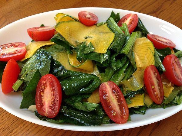 かっぼコリーと有機ほうれん草のサラダ~野菜宅配まとめ