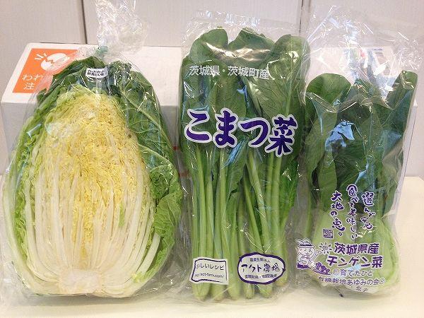 有機無農薬栽培の葉物野菜