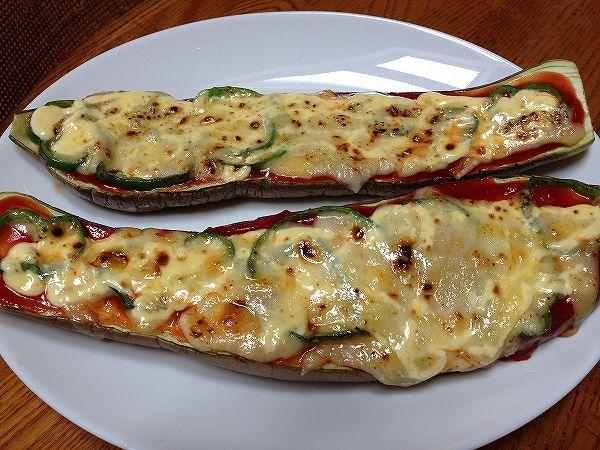 有機なすのピザ