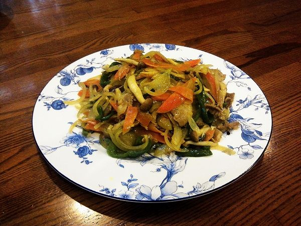 野菜炒め(カレー味)