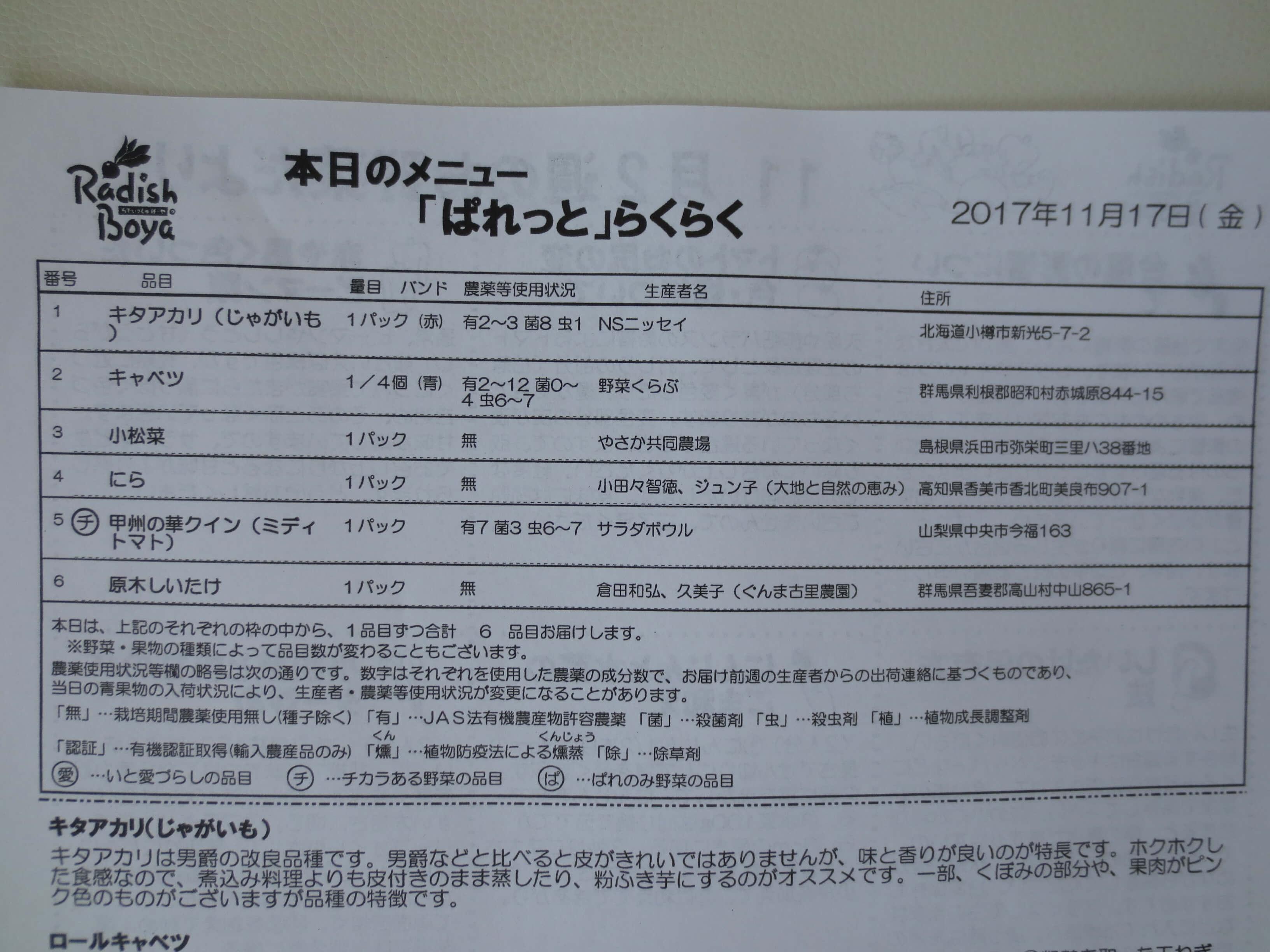 らでぃっしゅぼーや・らくらくパレット・口コミ・評判3
