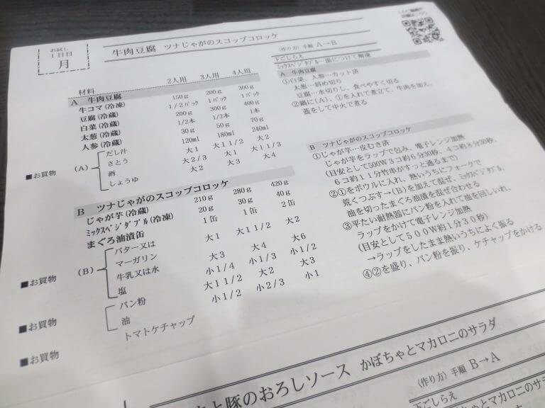 ヨシケイのミールキット「すまいるごはん」の口コミ比較6