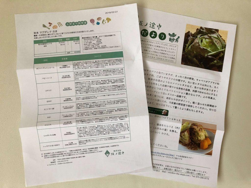 坂ノ途中・野菜セット定期便口コミ35