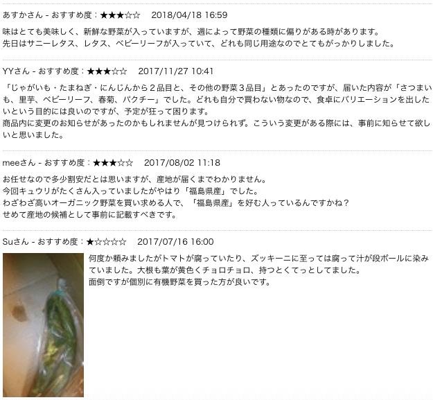 野菜宅配・コープデリの口コミ・評判・体験談30