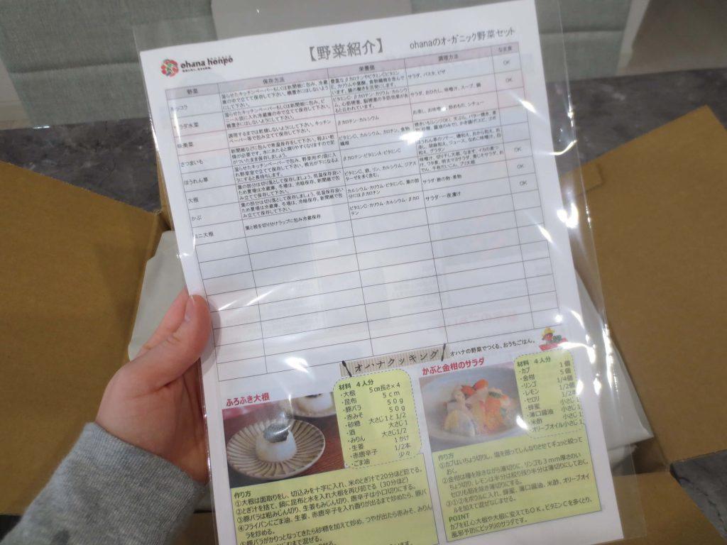 大分県の野菜宅配「ohana本舗」の有機野菜セットの口コミ・評判26