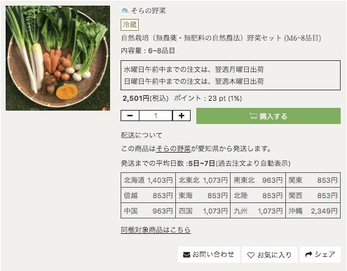 有機・オーガニック食材通販「たべるとくらすと」の評判口コミ12