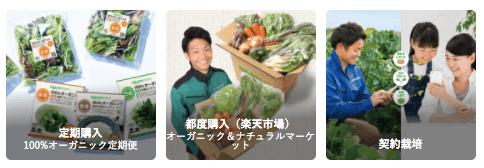 楽天ファームの有機野菜セットとサラダ定期便をお試し2