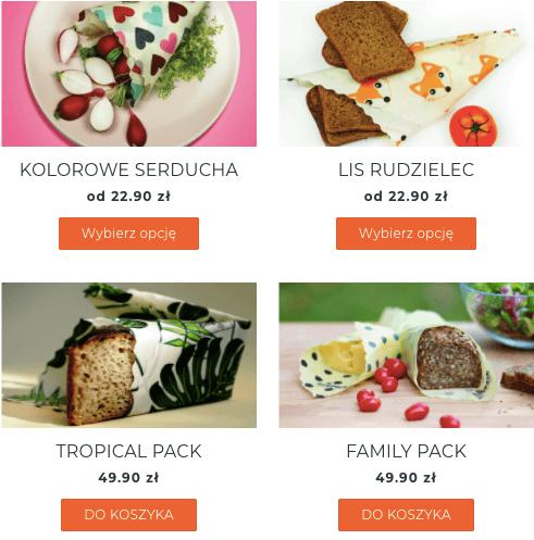 再利用・リサイクル可な食品ラップ「Woskowijki」(ヴォスコヴィイキ)2