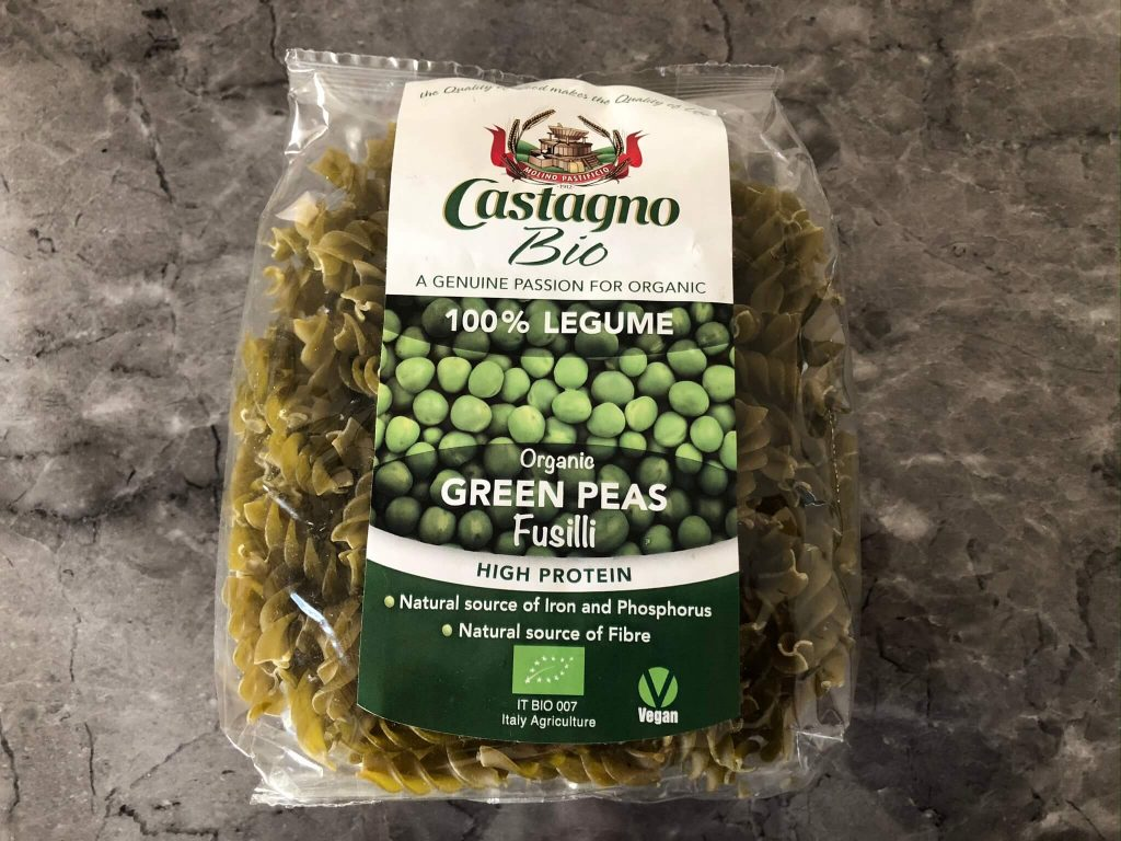 カスターニョの有機(オーガニック)豆パスタ18