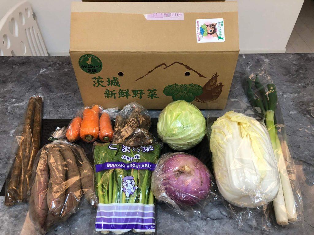 茨城県産自然栽培野菜セットをお試し・おお槻農園@百笑懸命34