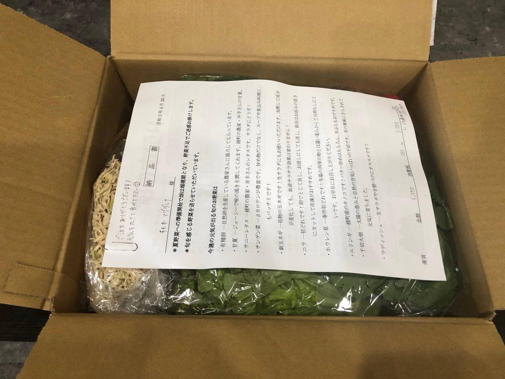 綾・早川農苑の無農薬野菜セットを注文16