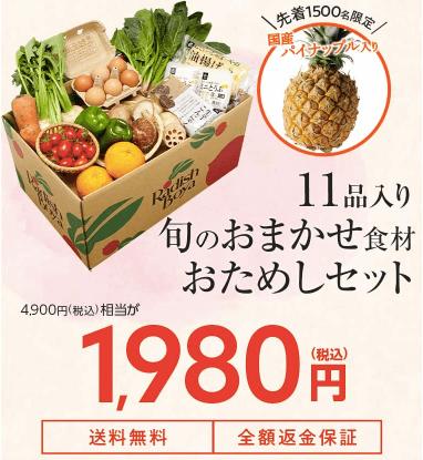 有機野菜宅配らでぃっしゅぼーやの不揃い野菜&食材セットのお試し・口コミ11